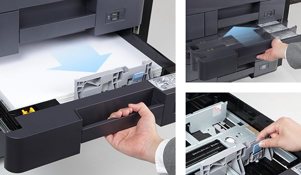 copy machine sliding paper drawer